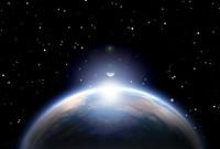 Earth, Moon and Sun.
