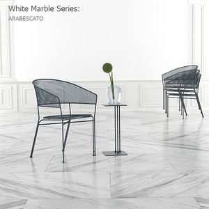 White Marble Textures Set and 3d Floor