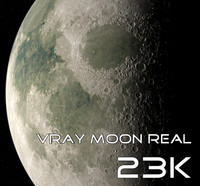 Vray Moon Real 23K