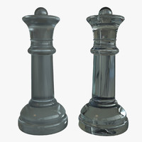 Queen Chess Pieces (Glass)