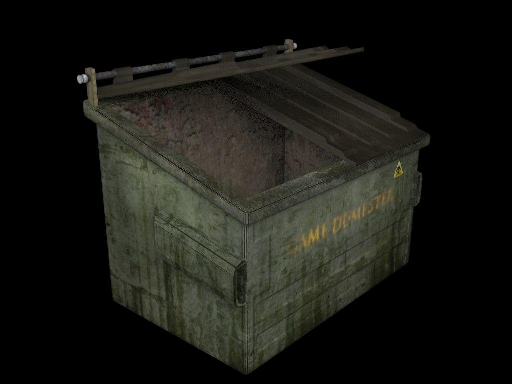 dumpster prop gaming 3d model