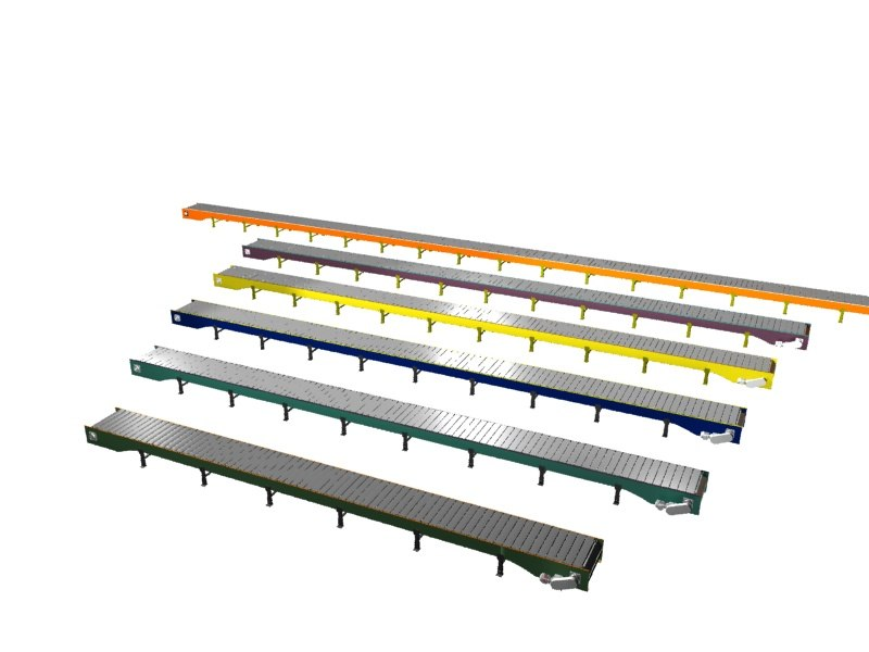 3d model slat conveyor