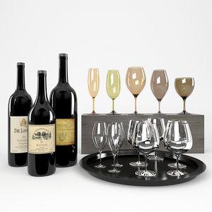 max bottles wine tinted glasses