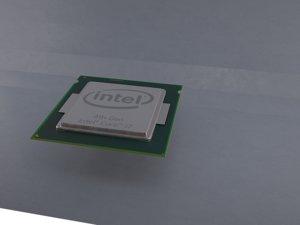 3d model processor chip intel