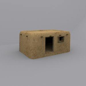 3d 3ds house clay