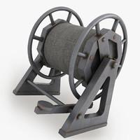 bobbin modelled v-ray 3d max