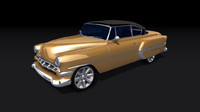 3d chevrolet bel air 1954