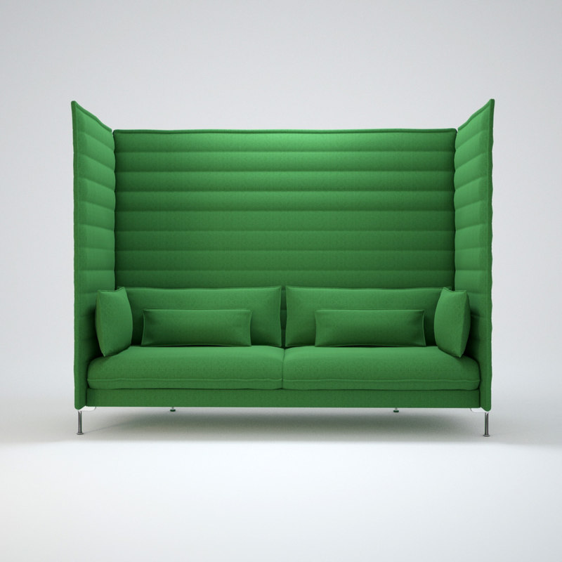 alcove highback sofa 3d max