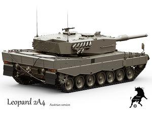 leopard 2a4 tank version 3d model