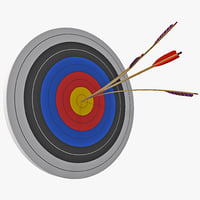 Bulls Eye with Split Arrow