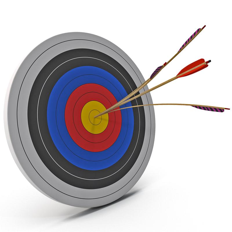 3d bulls eye split arrow