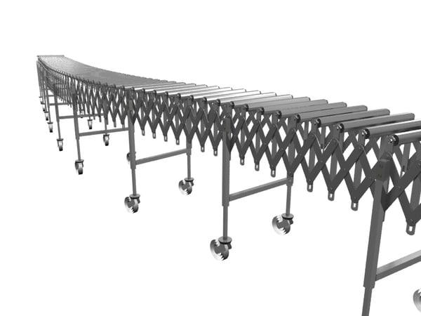 3d flexible expandable conveyor model