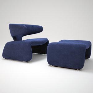 3d djinn-chair model