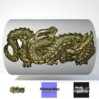 Japanese Dragon Menuki