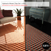 Hydraulic Mosaic Tiles Set - n.002