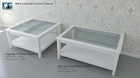 3d model ikea liatorp coffee tables