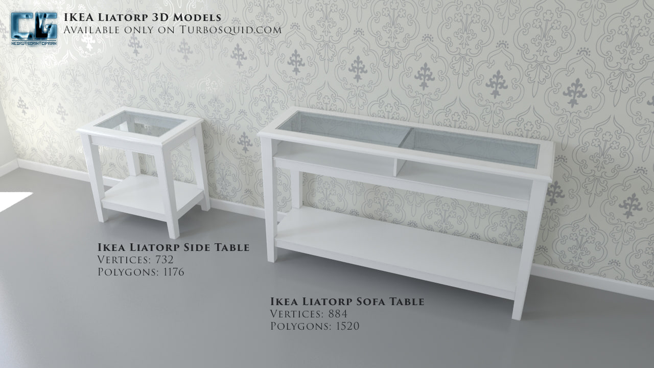 ikea liatorp table sofa 3ds