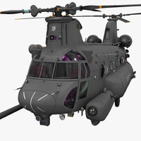 3d model mh 47 chinook rigged