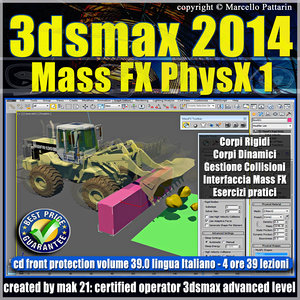 3ds max 2014 Mass Fx PhysX v.39 Italiano_cd front