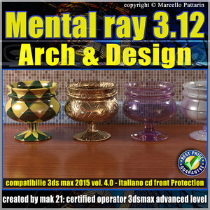 Mental ray 3.12 in 3dsmax 2015 Vol.4 Materiali Arch & Design