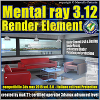 Mental ray 3.12 in 3dsmax 2015 Vol.8 Render Element_cd front