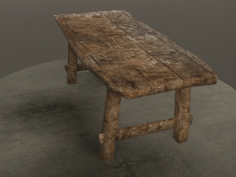 old table 3d x