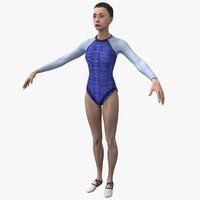 Olympic Female Gymnast Rigged