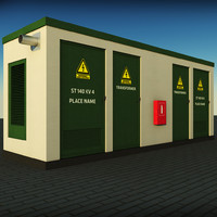 3d model electric power station
