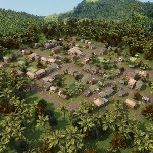 vietnamese village 3d model