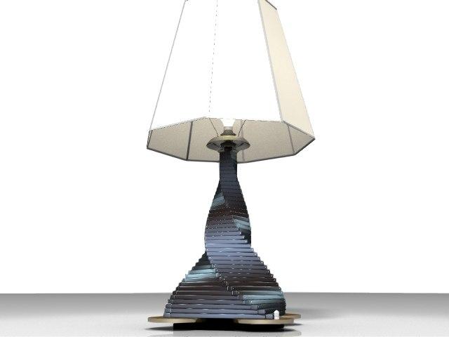 lamp warp 3d model