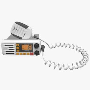 waterproof marine radio uniden 3d model