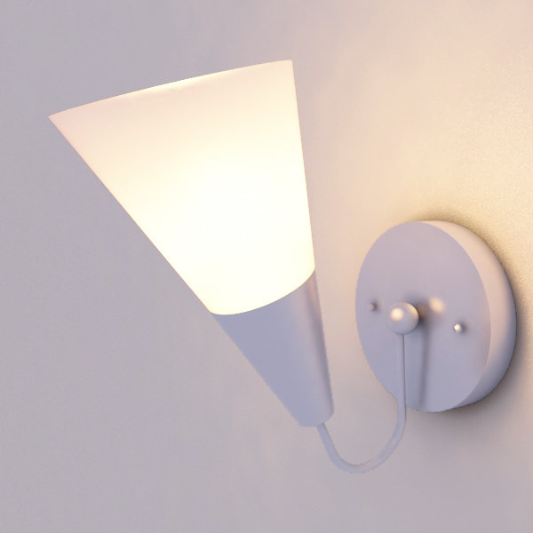 wall lamp light 3d model