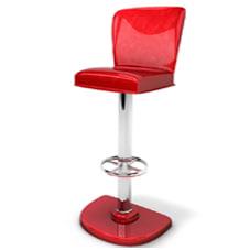 3d bar chair model