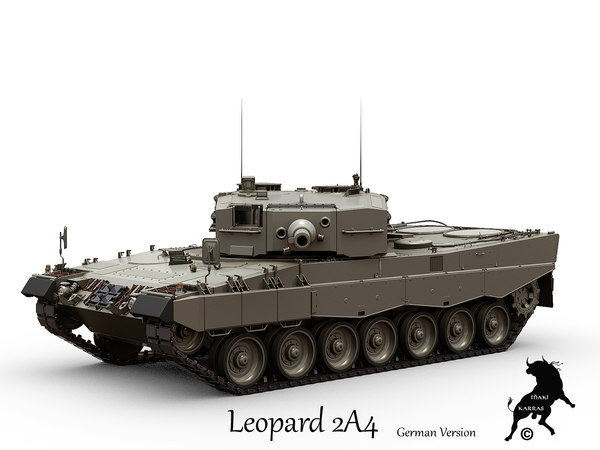 leopard 2a4 tank 3d max