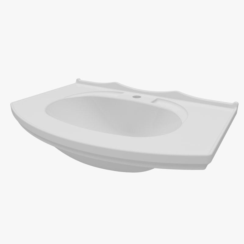 washbasin 695 370 3d model
