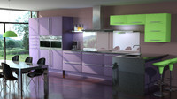 3d contemporary kitchen