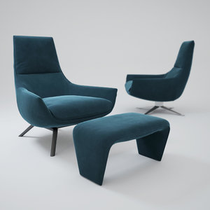 3ds max misuraemme-armchair