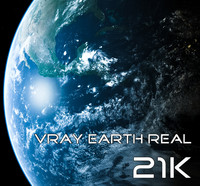 Vray Earth Real 21K
