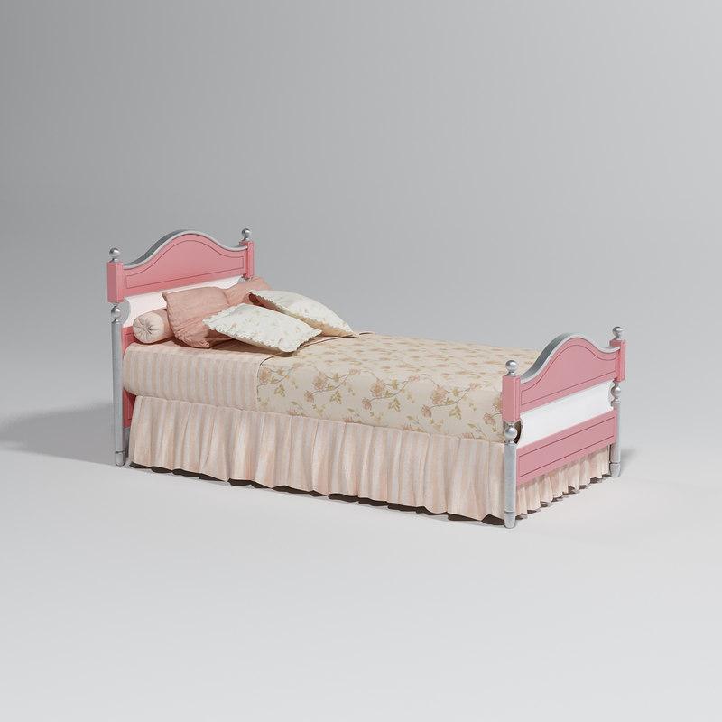 3d model girl s bed
