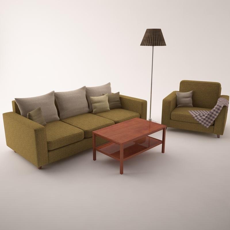 3d sofa set