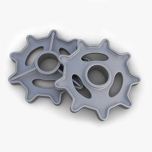 3d gear 18 model