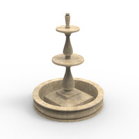 water fountain 3d model