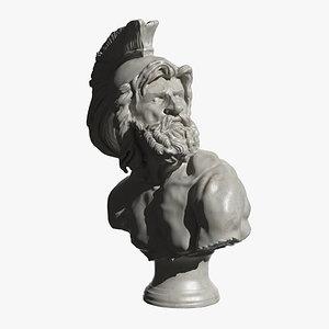 bust philopoemen 3d model