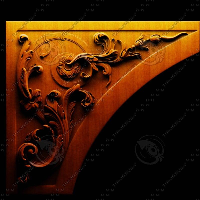 cnc wood carving obj