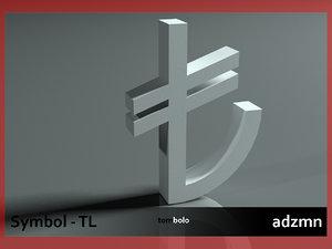 tl symbol 3d model
