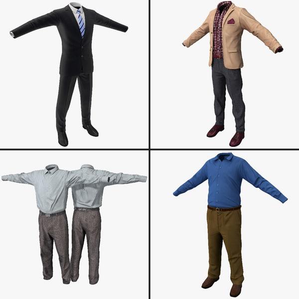 3dsmax men s business attire