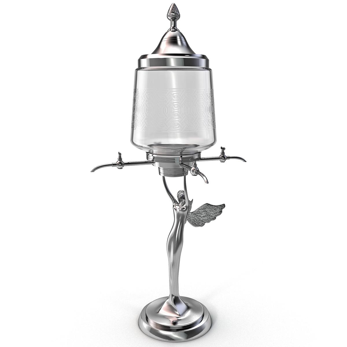 absinthe decanter lady 3d model
