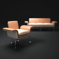 3d alexander-girard-group-herman-miller-sofa
