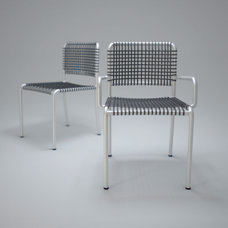 3d max allu-chair