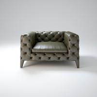 arketipo-windsor-armchair 3d max